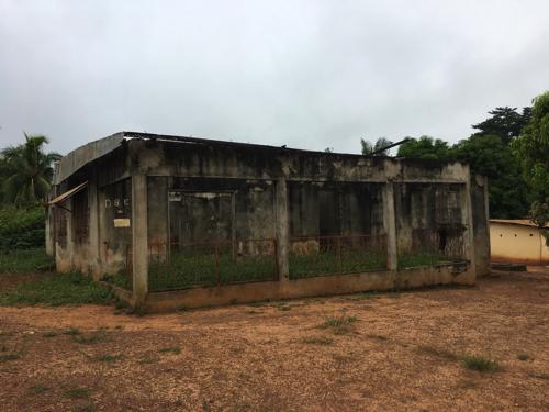 写真3 ゲモン州調査対象地の村 内戦中に放火された住居(2016年11月撮影)